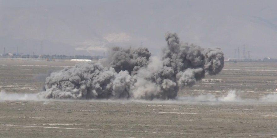F-16'lar hedefi böyle vurdu