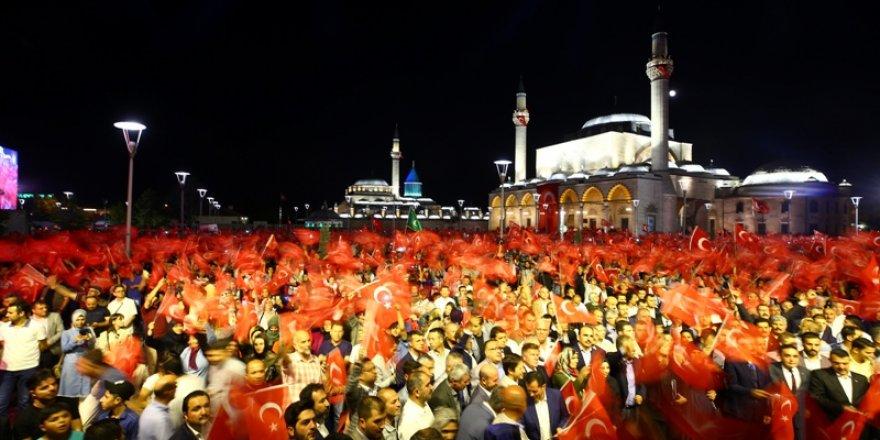 Konya'da 15 Temmuz coşku ile kutlandı