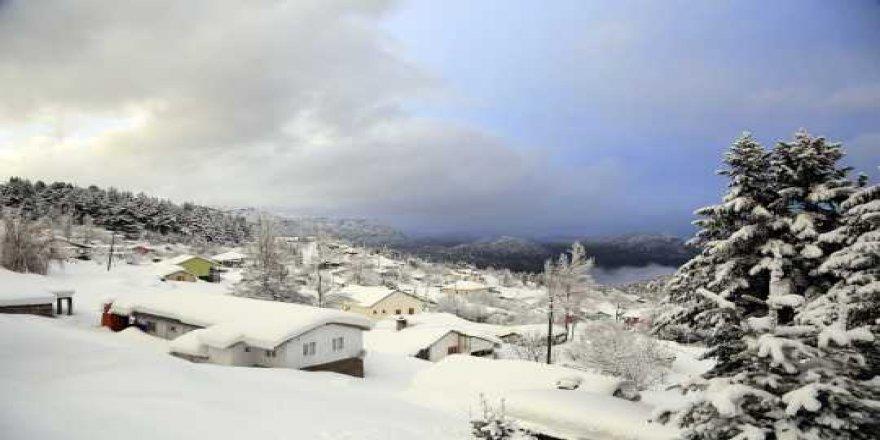 Konya Yalıhüyük Gölcük Yaylasında kış manzaraları