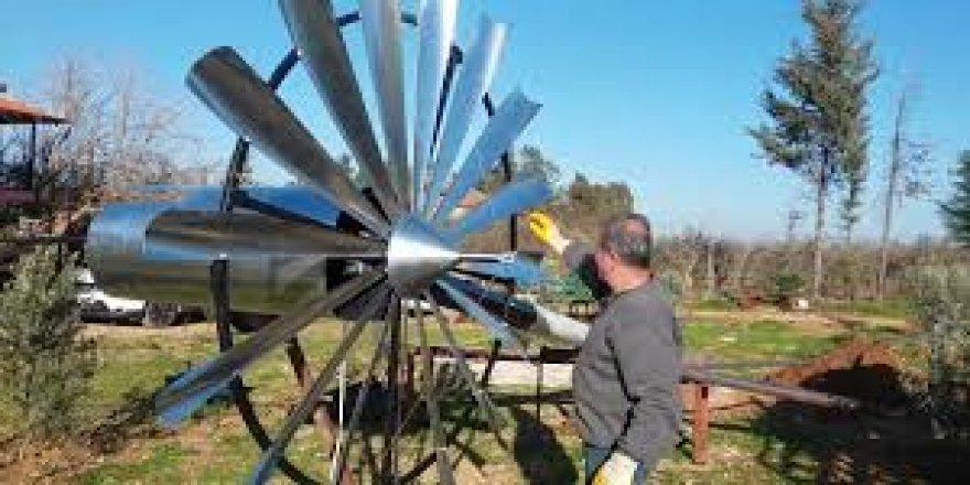 Hibrit rüzgar türbini ile elektrik üretimi