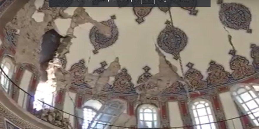 Deprem sonrası Malatya Yeni Cami hasar gördü