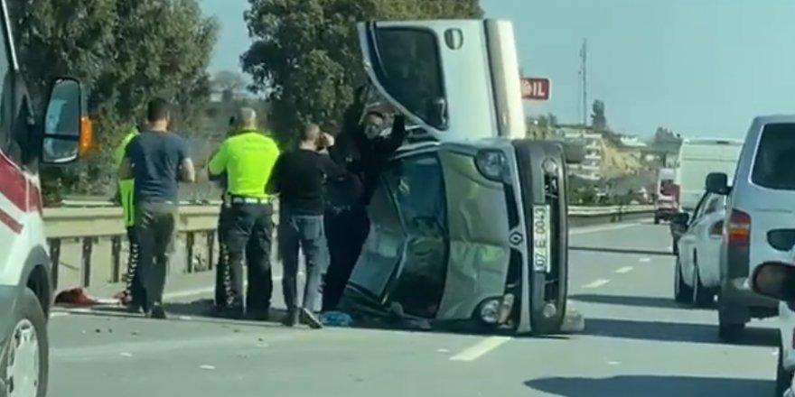 Manavgat-Konya yolunda trafik kazası