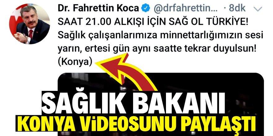 Bakan Fahrettin Koca'dan 'Konya' paylaşımı