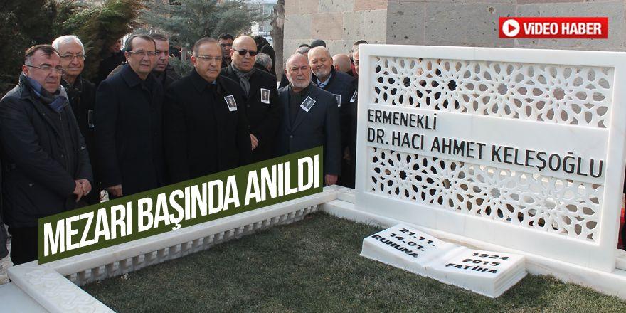 Ahmet Keleşoğlu mezarı başında anıldı