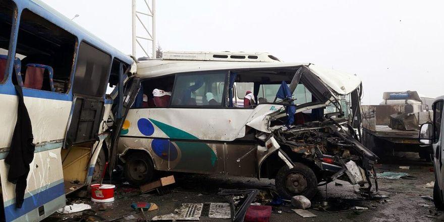 Konya'da zincirleme trafik kazaları