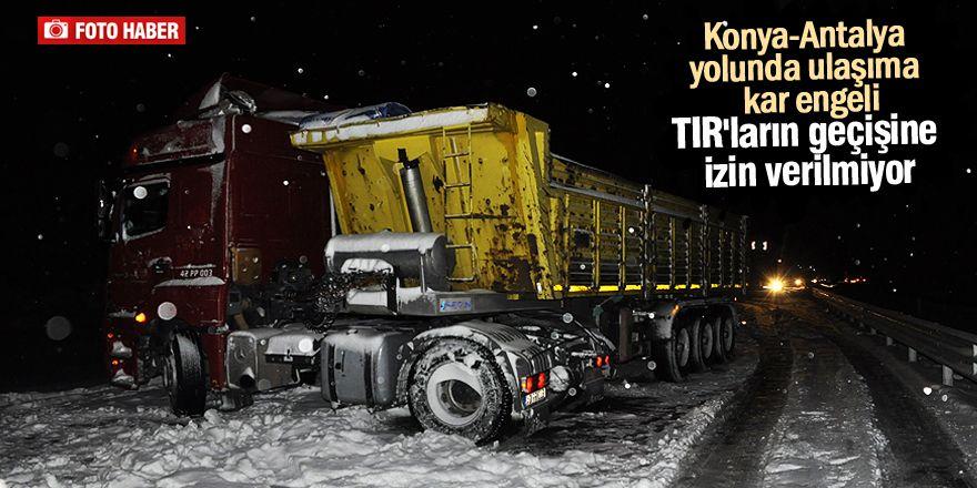 Antalya Yolunda Ulaşıma Kar Engeli