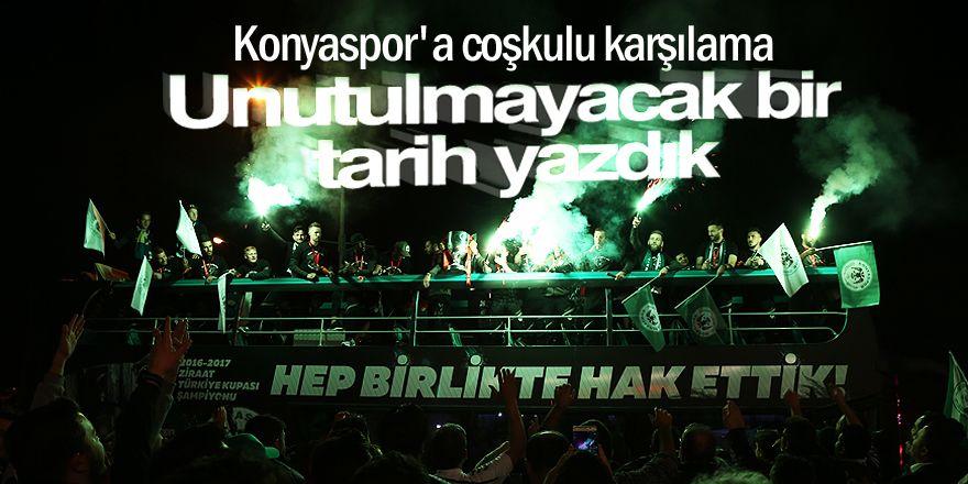 Konya'da Atiker Konyaspor'a coşkulu karşılamaKaynak: Konya'da Atiker Konyaspor'a coşkulu karşılama