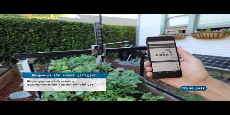 Dünyanın ilk robot çiftçisi