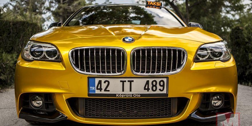 2017 model lüks BMW ile taksi yolculuğu