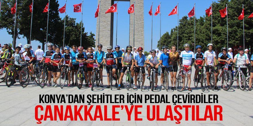15 Temmuz şehitleri için bin 600 kilometre pedal çevirdiler