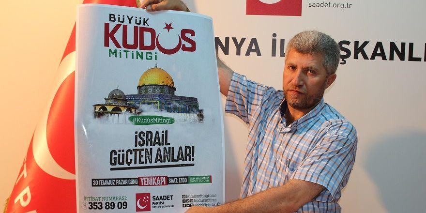 Konya'dan Büyük Kudüs Mitingi'ne davet