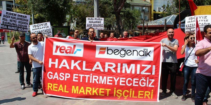 """Real işçileri: """"Hileli iflas ile haklarımız gasp edildi"""""""