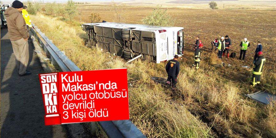 Ankara-Konya yolunda otobüs kazası: 3 ölü