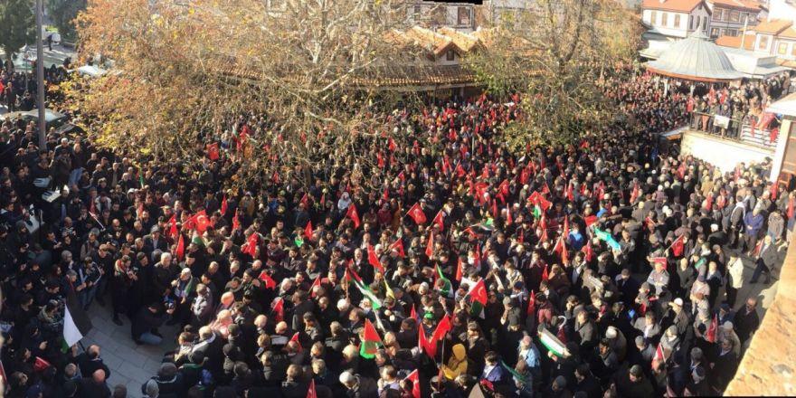 Konya'da 'Kudüs' protestosu