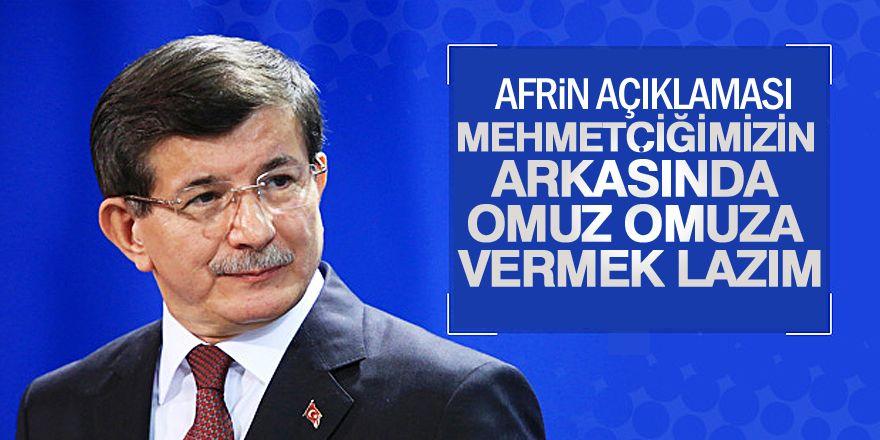 Ahmet Davutoğlu'ndan Afrin ve 2019 seçimleri açıklamas