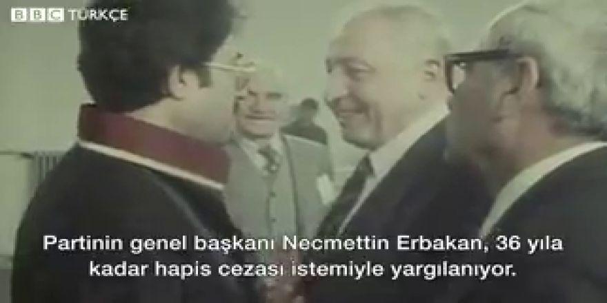 12 Eylül dönemi Necmettin Erbakan mahkeme görüntüleri