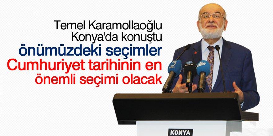 Temel Karamollaoğlu Konya'da