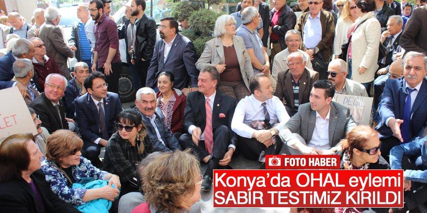 Konya'da OHAL eylemi